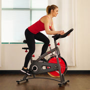 Chain Drive Indoor Cycling Bike Exercise Bike w/ LCD Monitor