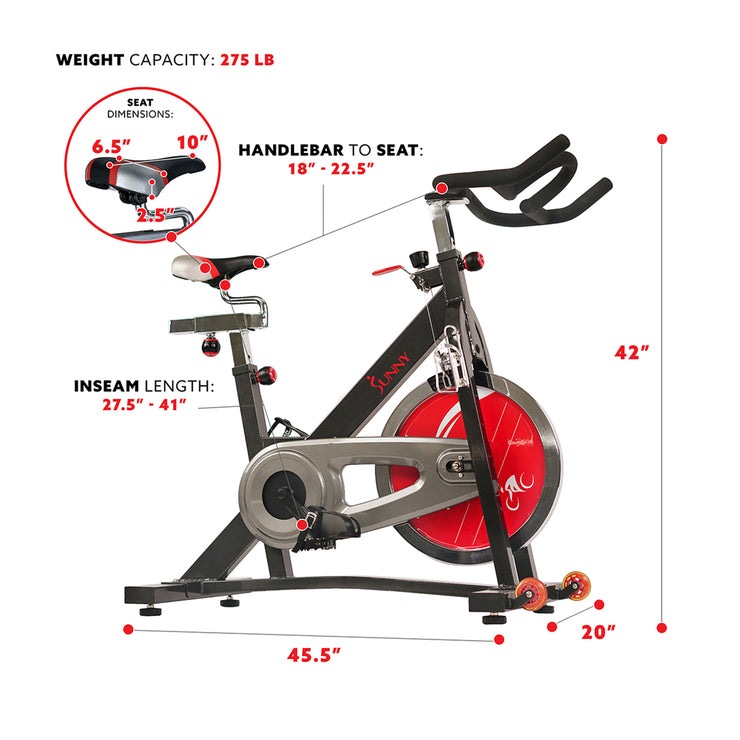 SF-B1401 Sunny Health and Fitness Chain Drive Indoor Cycling  Exercise Bike-