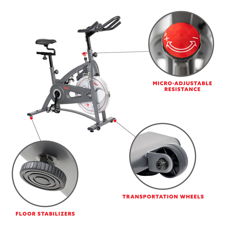 Endurance Belt Drive Magnetic Indoor Exercise Cycle Bike