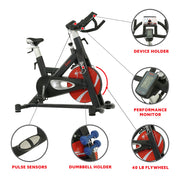 Evolution Pro II Magnetic Indoor Cycle Exercise Bike with Device Mount and Performance Display
