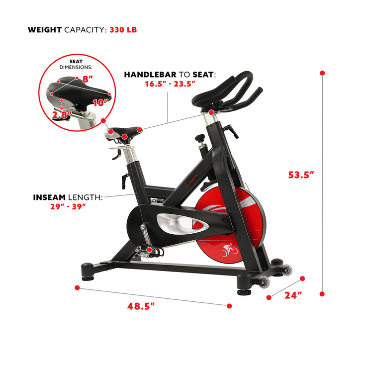 Evolution Pro Magnetic Belt Drive Indoor Cycling Bike, High Weight Capacity, Heavy Duty Flywheel