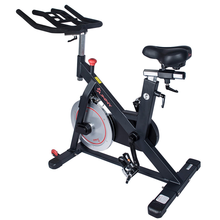 Magnetic Belt Drive Indoor Cycling Bike w/ High Weight Capacity and Device Holder