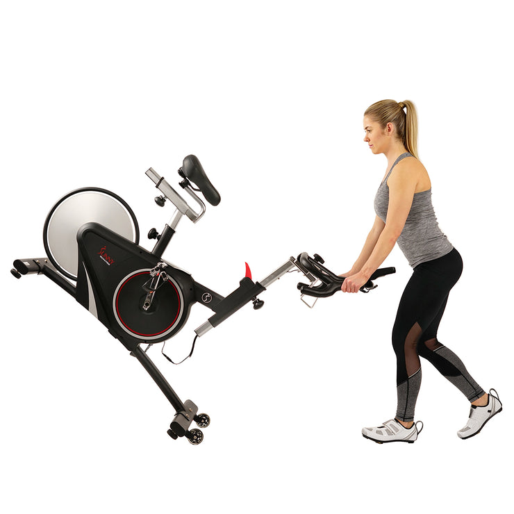 Magnetic Rear Belt Drive Indoor Cycling Bike, High Weight Capacity w/ Cadence Sensor and Pulse Rate