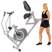 Magnetic Recumbent Exercise Bike, 350lb High Weight Capacity, Arm Exercisers, Monitor, Pulse Rate