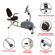 Magnetic Recumbent Exercise Bike