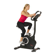 Magnetic Upright Exercise Bike with Programmable Monitor and Pulse Rate Monitoring