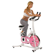 Pink Chain Drive Indoor Cycling Trainer Exercise Bike