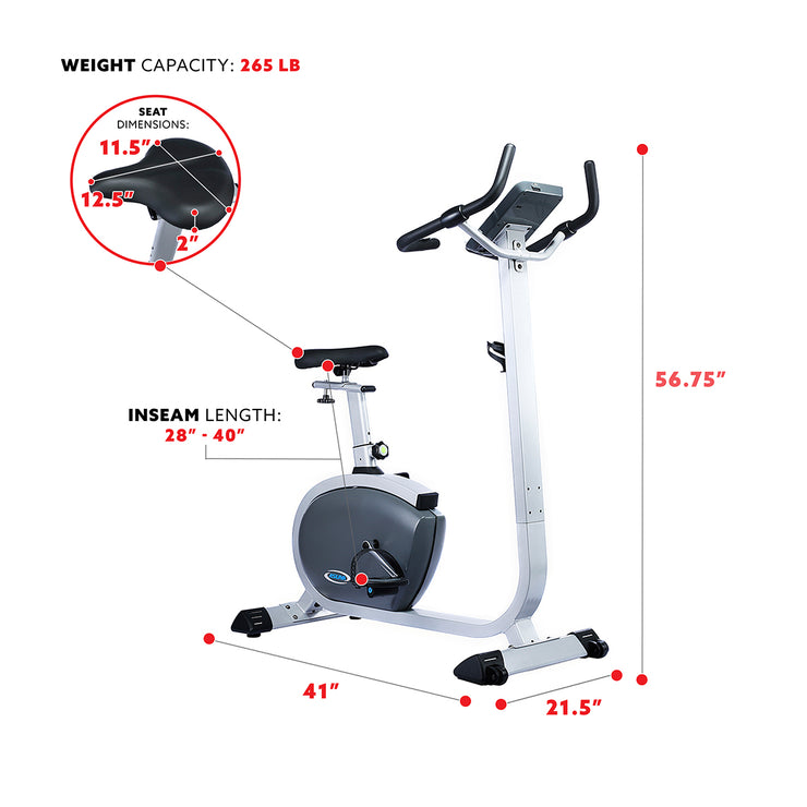 Premium Upright Bike w/ Pulse Rate Monitoring