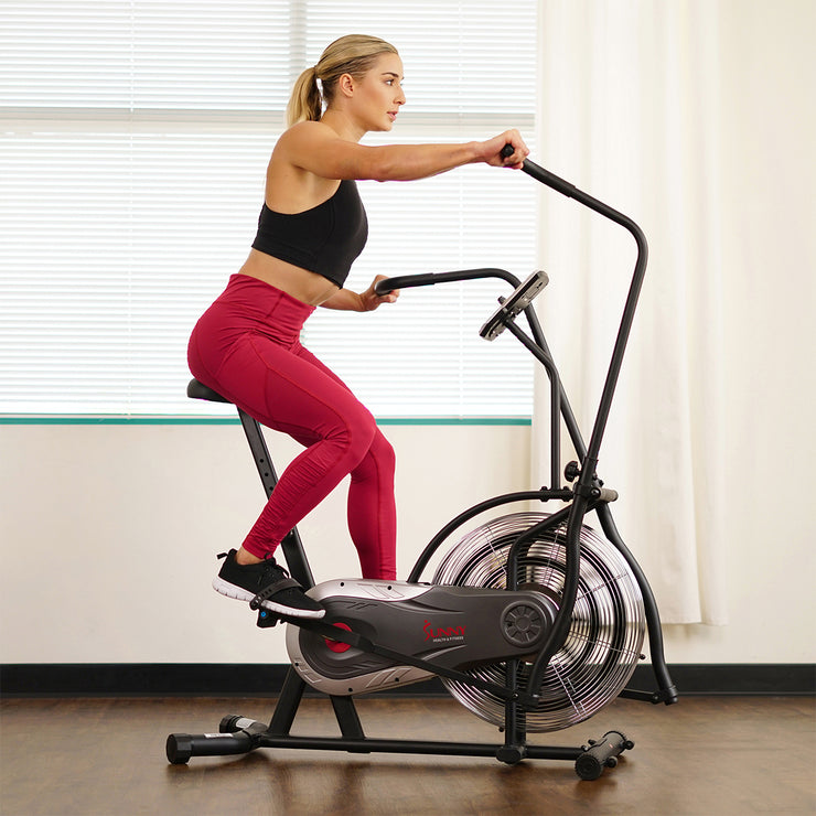 Zephyr Air Bike, Fan Exercise Bike w/ Unlimited Resistance, Adjustable Handlebars