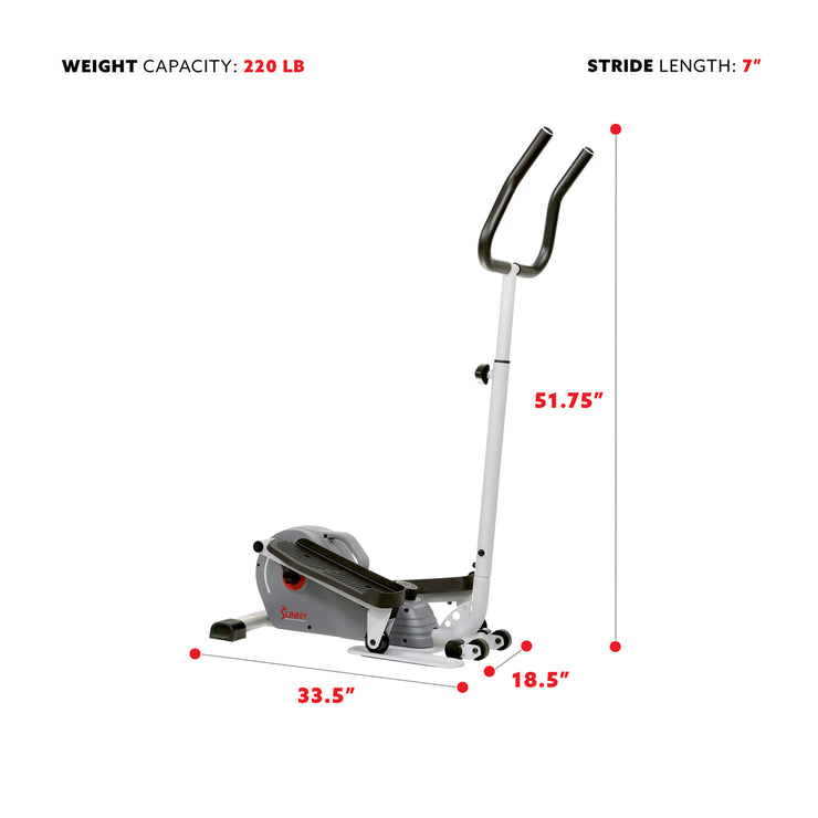 Magnetic Standing Elliptical with Handlebars