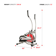 Flywheel Elliptical Trainer