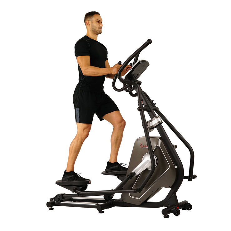 Magnetic Elliptical Machine w/ Device Holder, LCD Monitor and Heart Rate Monitoring - Circuit Zone