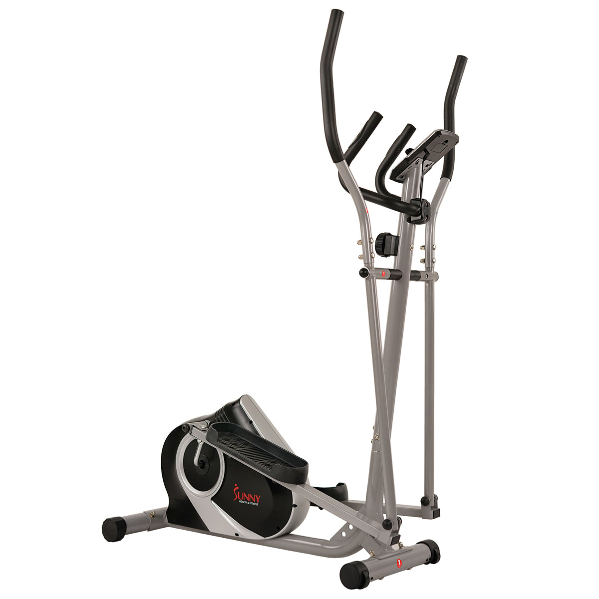 Sunny Health & Fitness Magnetic Elliptical Machine with Device Holder, LCD Monitor and Heart Rate Monitoring Ozone