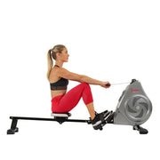 Air Magnetic Rowing Machine Rower, LCD Monitor w/ Device Holder