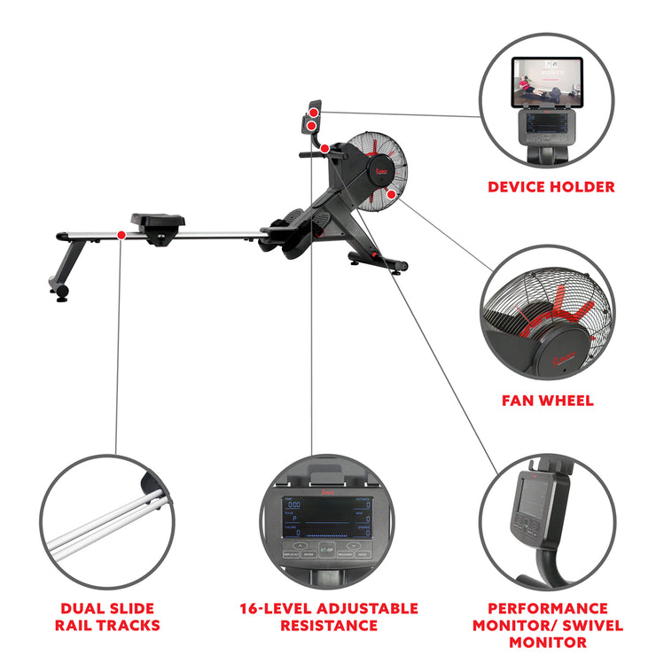 Carbon Premium Air Magnetic Rowing Machine