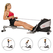 Dual Function Magnetic Rowing Machine Rower w/ LCD Monitor