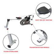 Full Motion Magnetic Rowing Machine