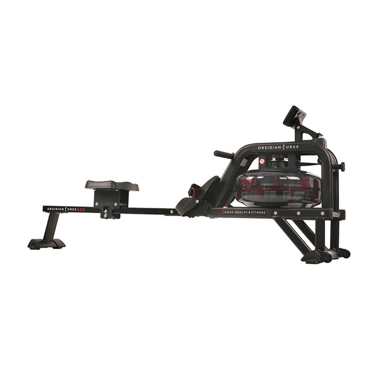 Obsidian Surge Water Rowing Machine Rower w/ LCD Monitor