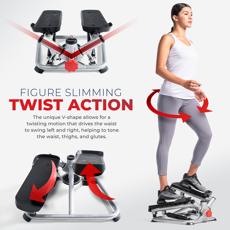 Total Body Advanced Twisting Stepper Machine