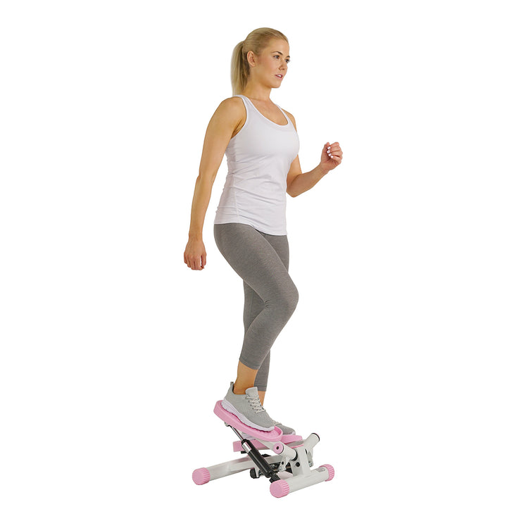 Pink Adjustable Twist Stepper Step Machine w/ LCD Monitor