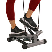 Twisting Stair Stepper Step Machine w/ Resistance Bands and LCD Monitor