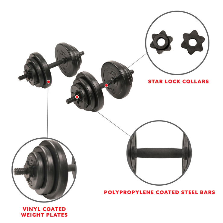 40 lb,Vinyl Dumbbell Set