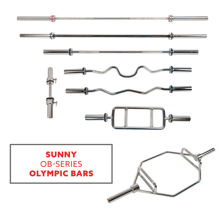 "47"" Olympic Curl Bar w/ Ring Collars"