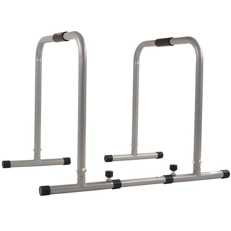 Dip Stand Station Fitness Bar w/ Safety Connector