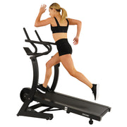 Cardio Trainer Manual Treadmill w/ Adjustable Incline, Magnetic Resistance, 400+ lb Capacity