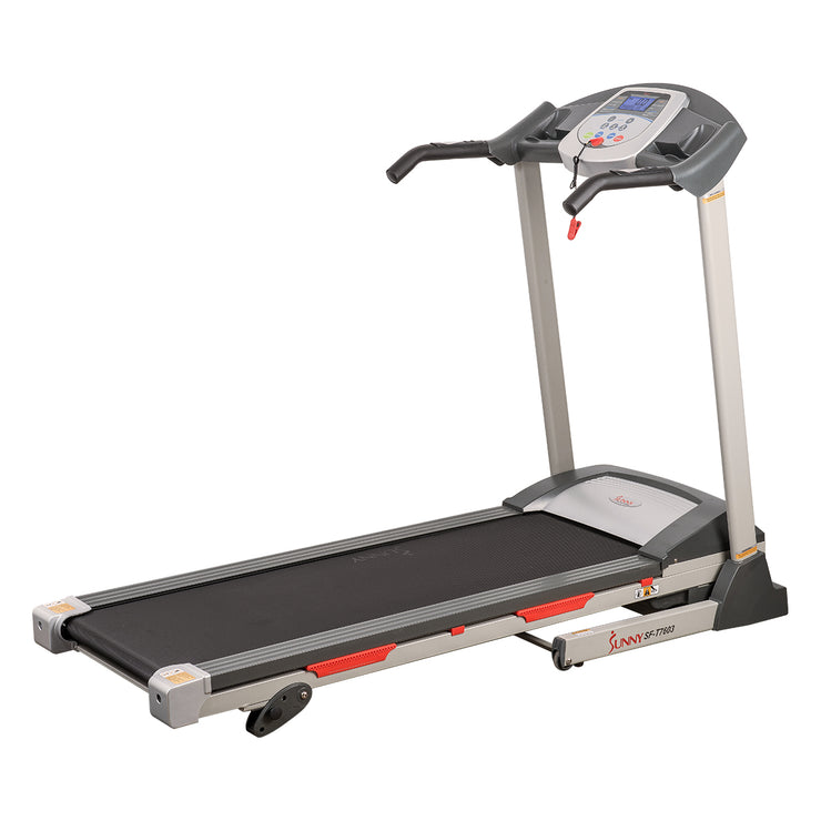 Electric Treadmill w/ 9 Programs, Manual Incline, Easy Handrail Controls & Preset Button Speeds