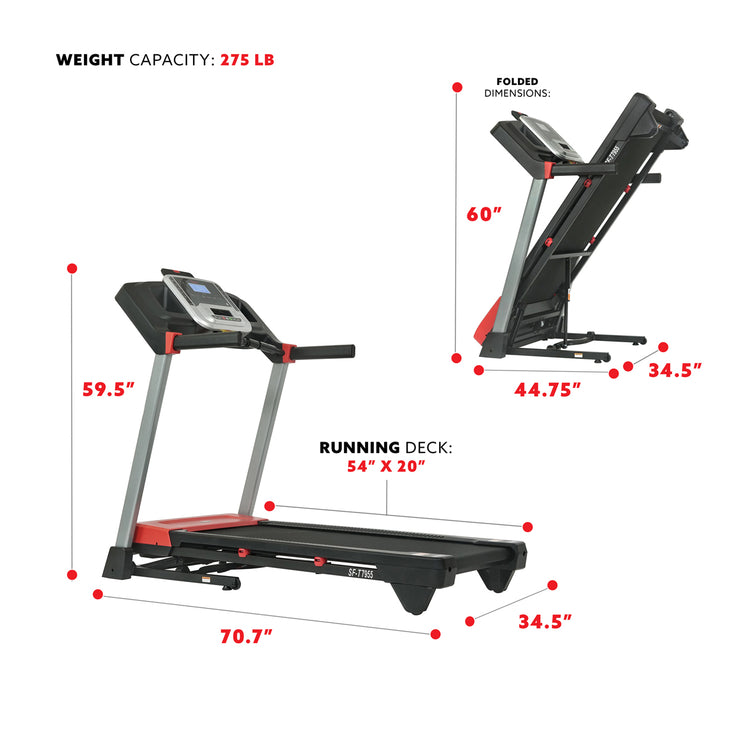 Evo-Fit Incline Treadmill with Bluetooth and Dual Device Holders