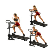 Force Fitmill Manual Treadmill w/ High Weight Capacity, Magnetic Resistance and Dual Flywheel