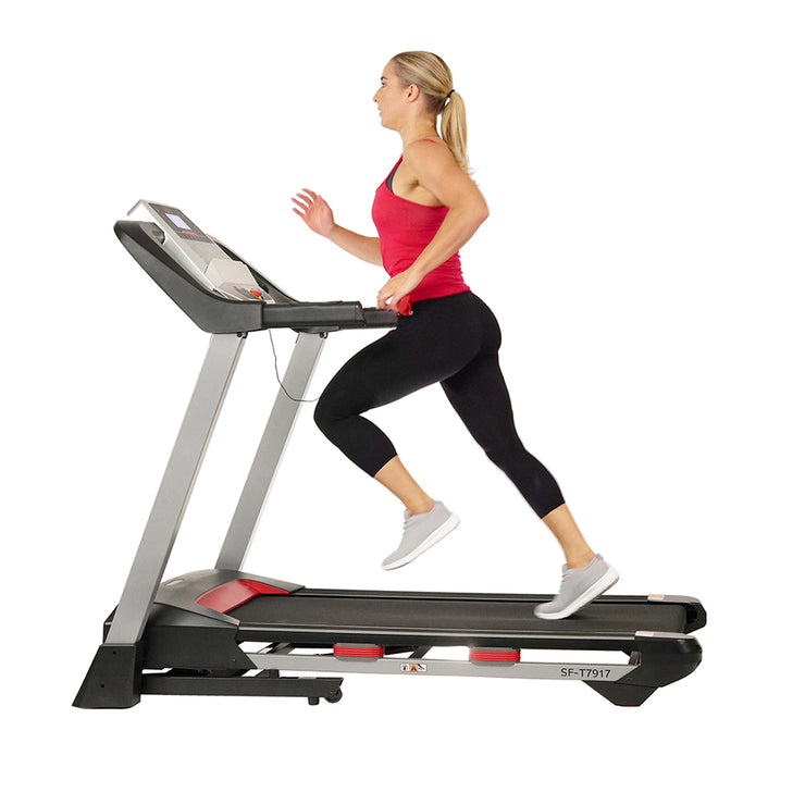 Incline Treadmill with Bluetooth Speakers and USB Charging Function