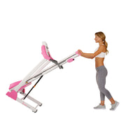 Pink Treadmill w/ Manual Incline and LCD Display