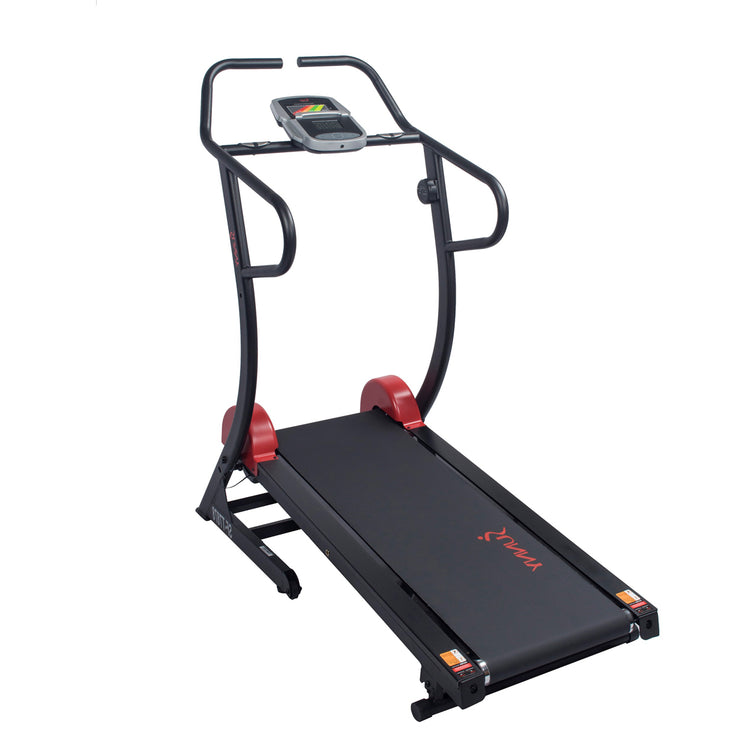 Sunny Health & Fitnesss Cardio Trainer Manual Treadmill w/ Adjustable Incline, 300+ lbs Capacity
