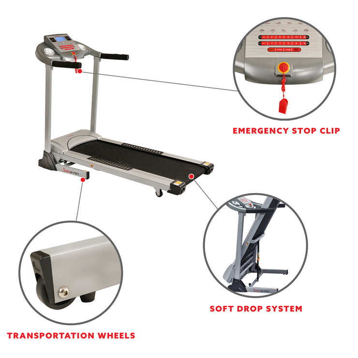 Treadmill, High Weight Capacity w/ Auto Incline, MP3 and Body Fat Function