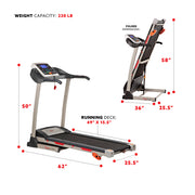 Treadmill w/ Manual Incline and LCD Display