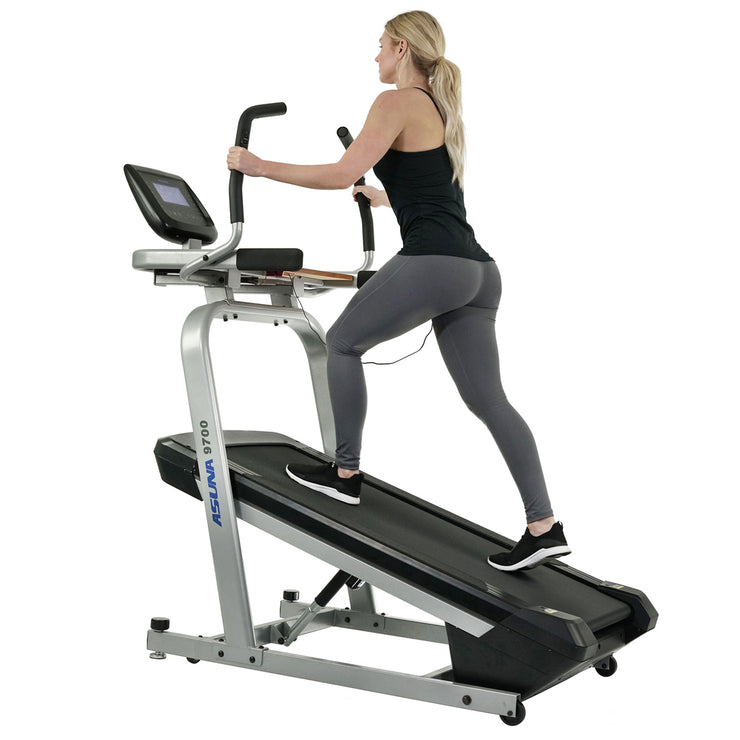 Treadmill Workstation Desk with Auto Incline at 40% Max, Wide Treadmill and USB Charging Function