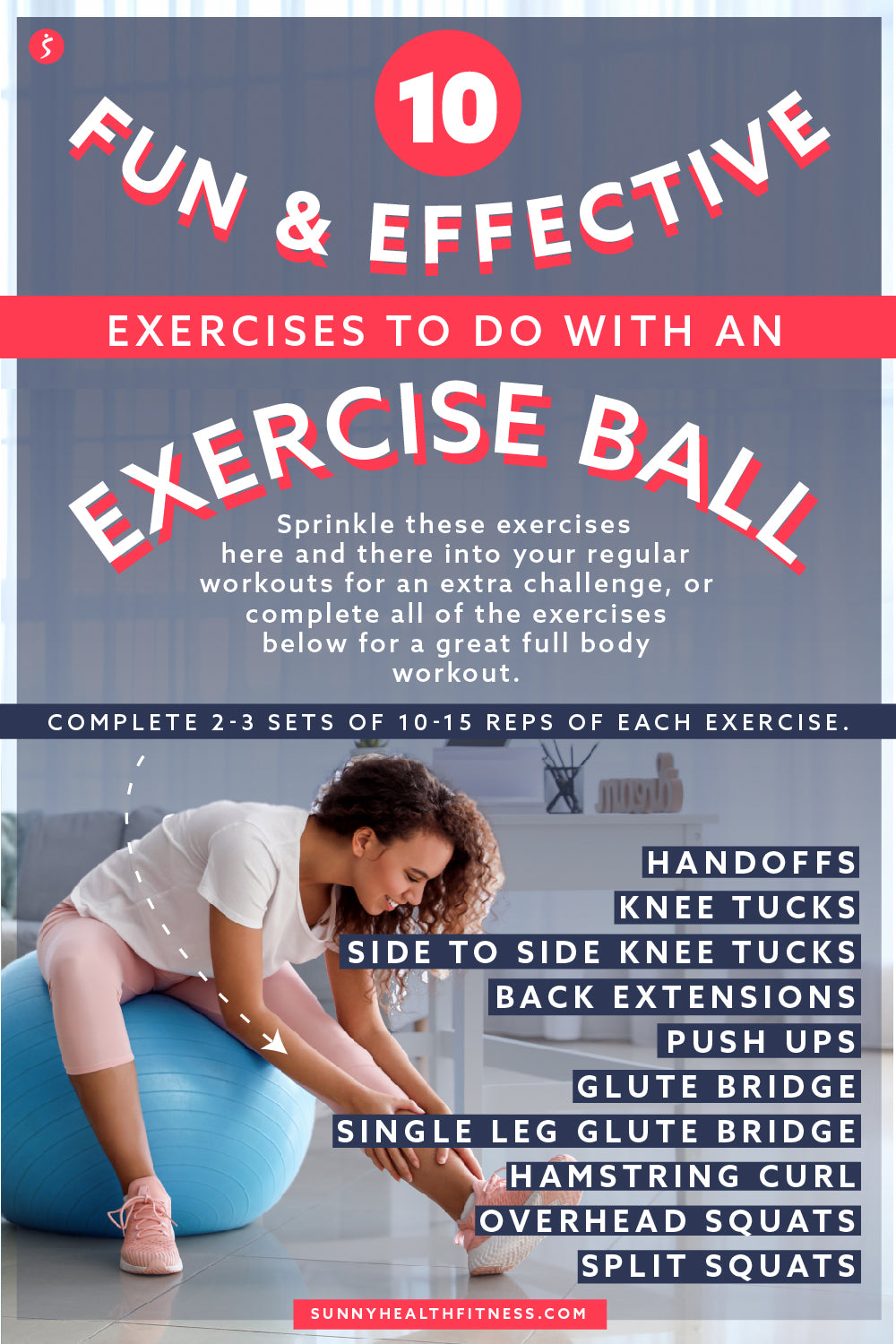 Exercise Ball Workout Infographic