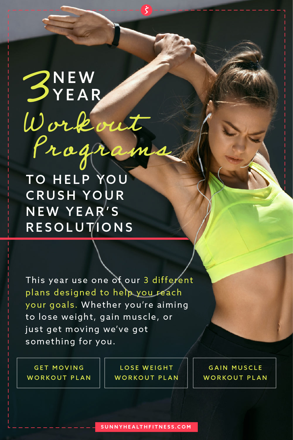3 New Year Workout Programs Infographic