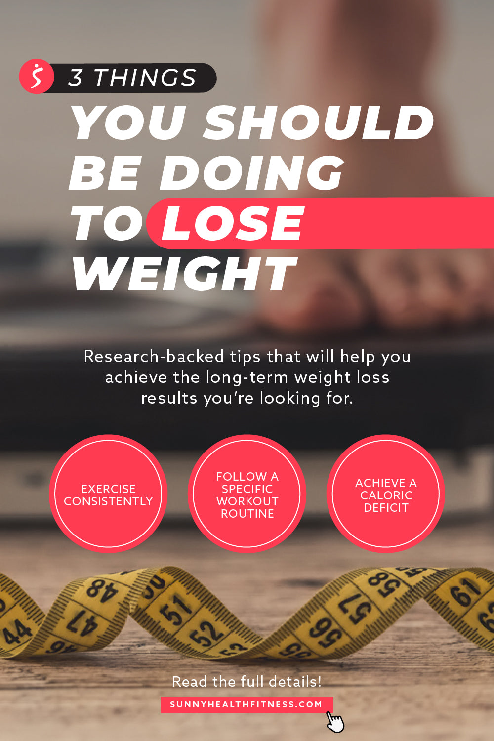 3 Things to Lose Weight Infographic