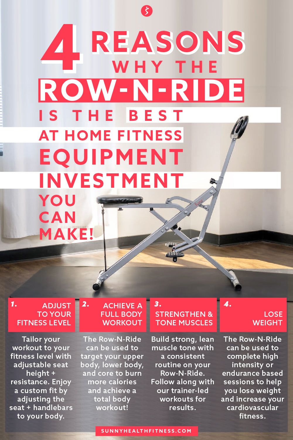 est At Home Fitness Equipment Investment Row-N-Ride Infographic