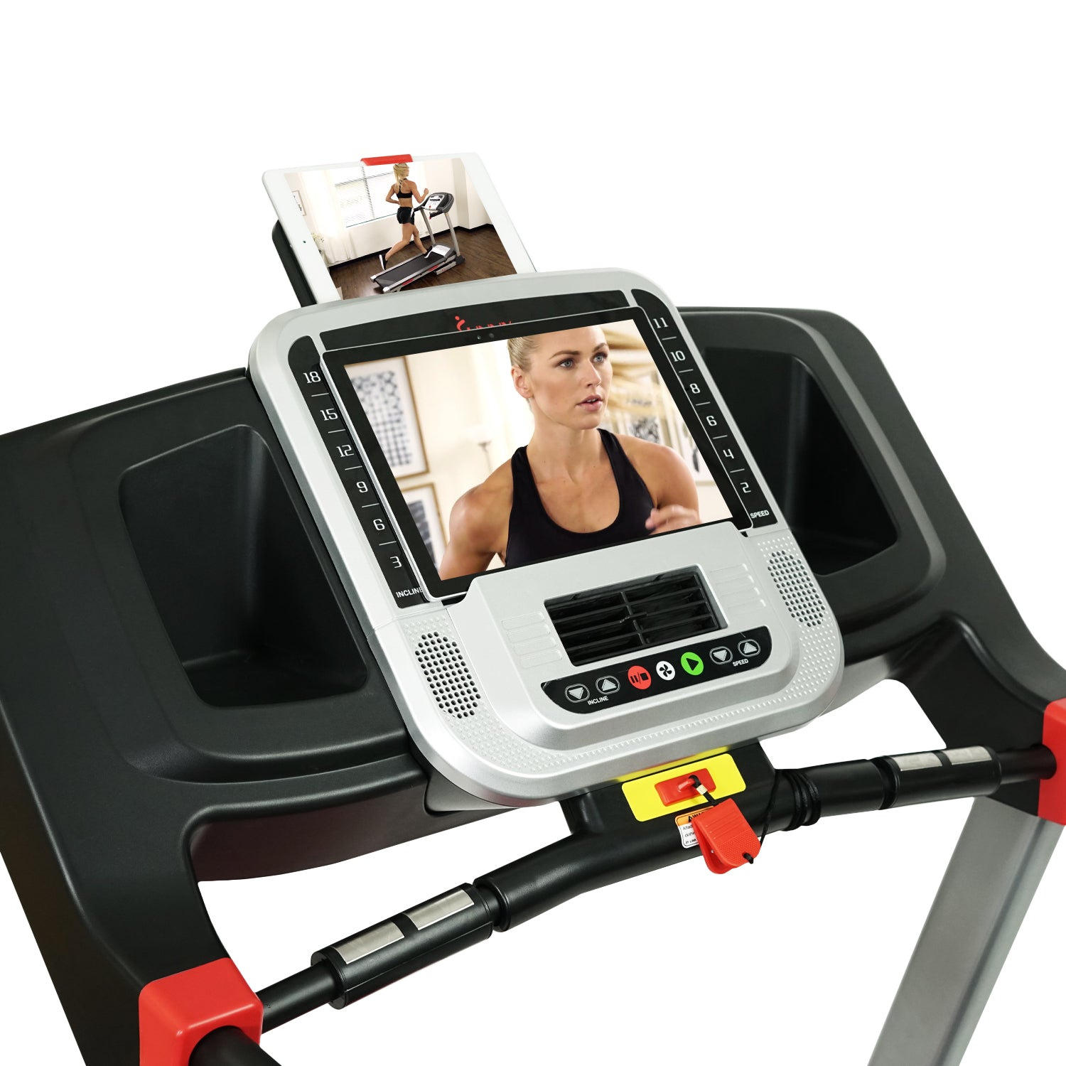 sunny-health-fitness-treadmills-evo-fit-incline-treadmill-bluetooth-dual-device-holders-SF-T7955-device-holders