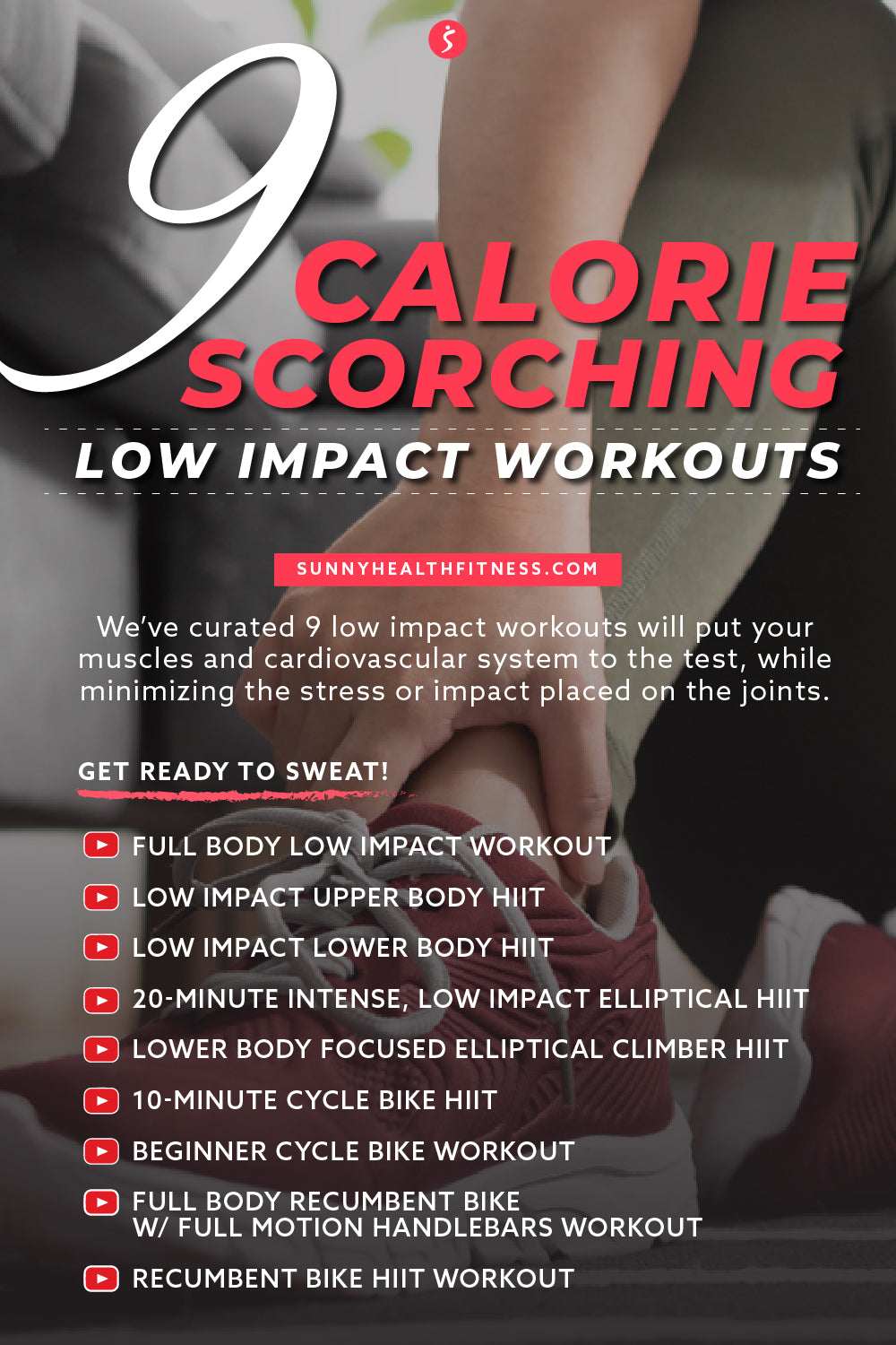 9 Calorie Scorching Low Impact Workouts Infographic