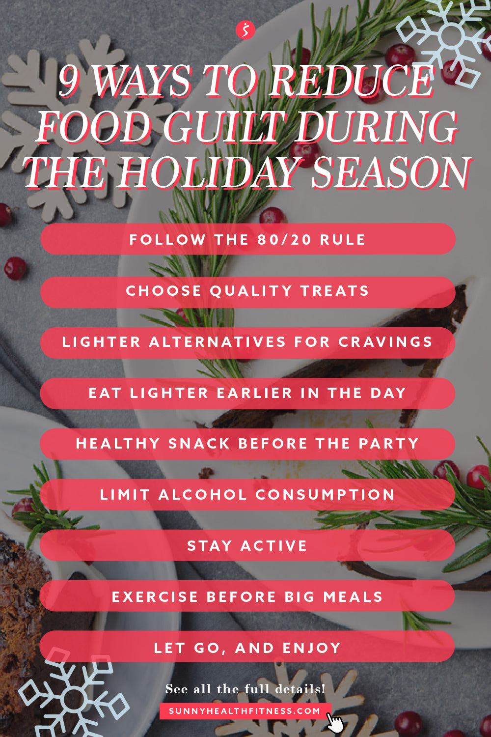 9 Ways to Reduce Food Guilt During the Holiday Season Infographic