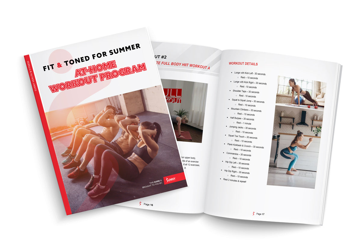 Get Fit and Toned for Summer eBook cover and spread