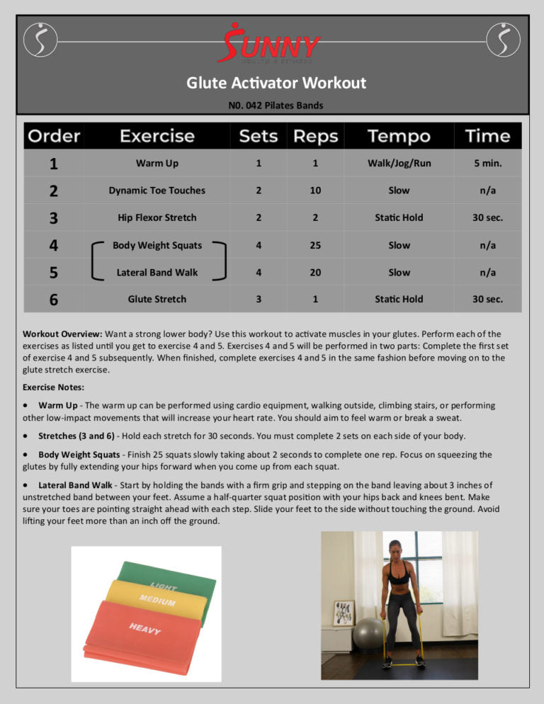 Glute Activator Workout Card