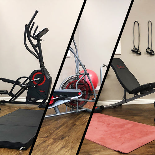home gym collage