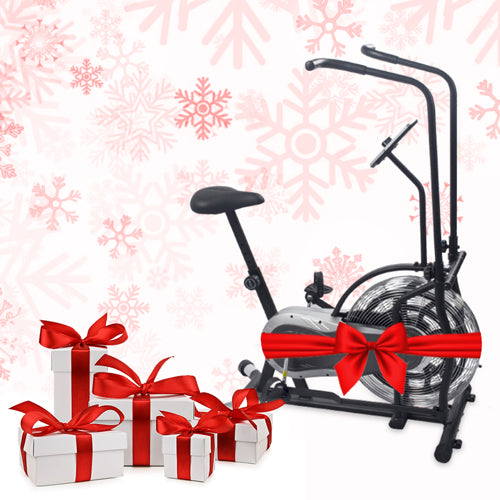 gift boxes and a bike