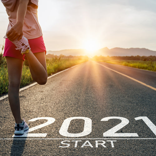 a person is ready for exercising in new year 2021
